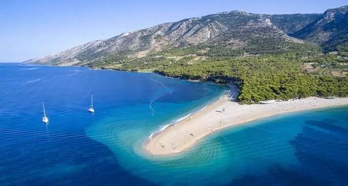 Den kroatiska ön Brac
